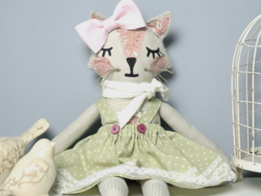 """Katie Cat 18"""" Doll Stuffie PDF Pattern"""