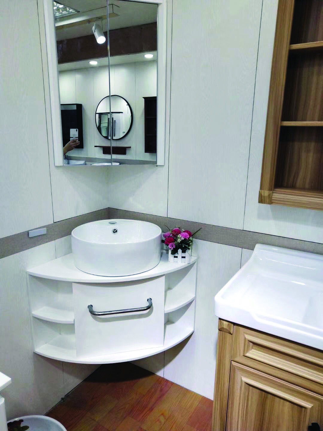 Superior Corner Bathroom Mirror Cabinet Uk Only On Alexadecor Com Bathroomdesignukikea Corner Sink Bathroom Corner Bathroom Vanity Corner Bathroom Mirror