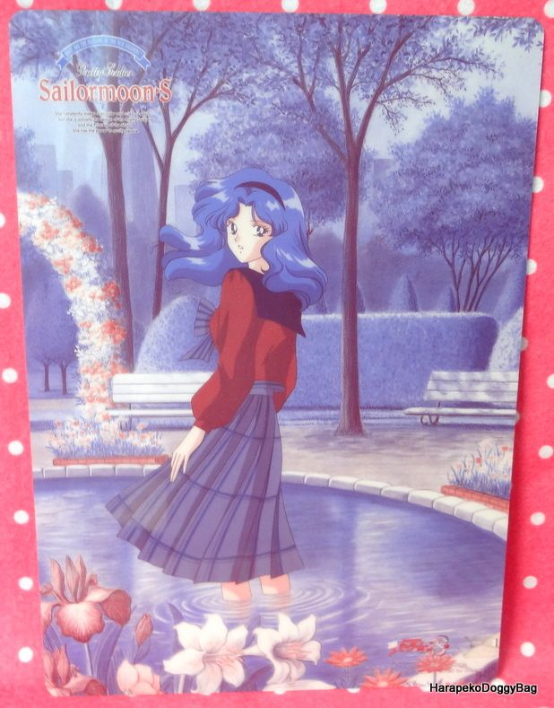 A shitajiki / illustration picture board for the Japanese shojo anime, Sailor Moon. The stationery item with the illustration of Sailor Neptune / Michiru Kaio is for Sailor Moon S.