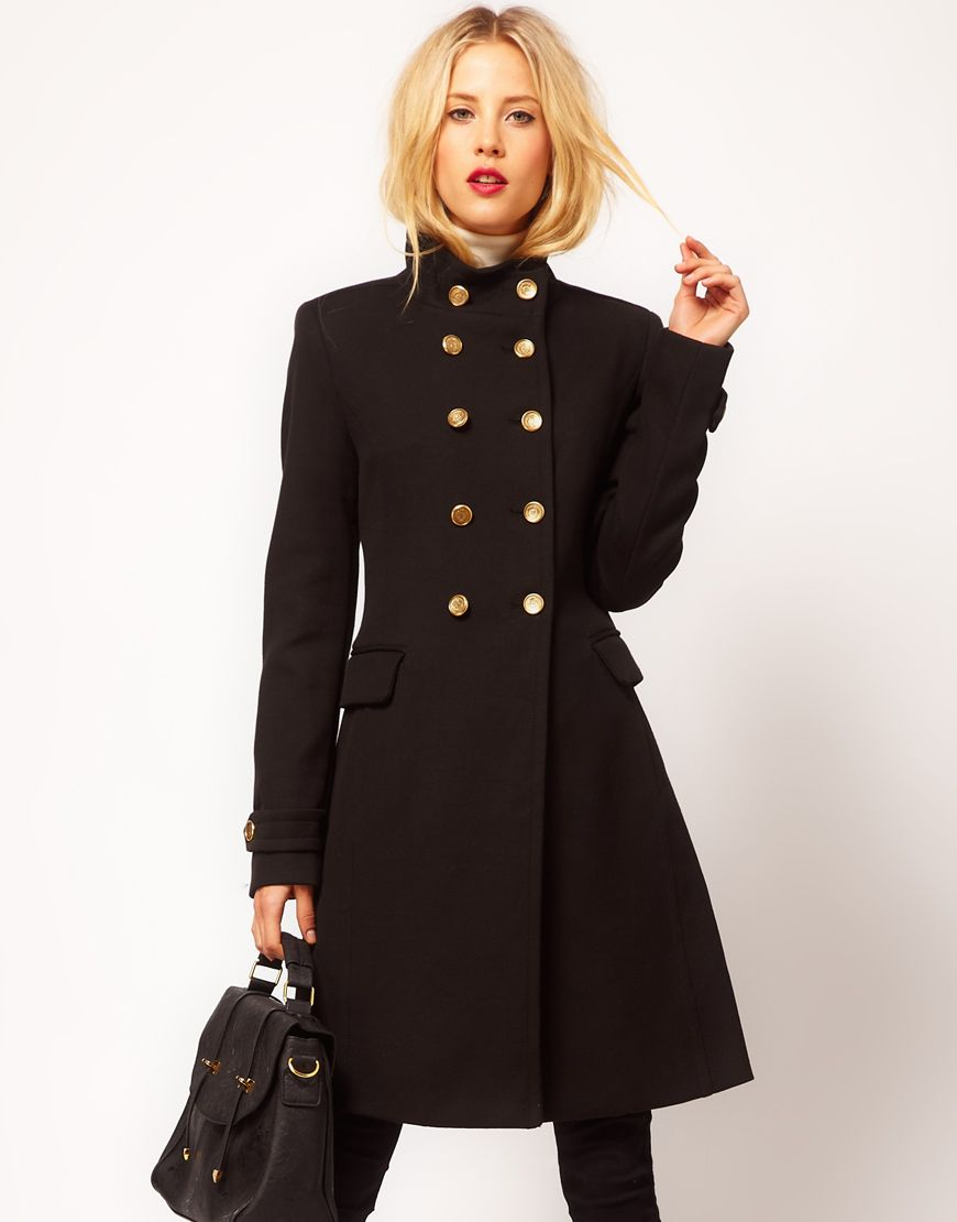 Mango Funnel Neck Military Coat | Outfits I love | Pinterest ...