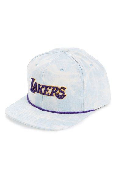 b5fbe3478c12b Mitchell   Ness  Los Angeles Lakers  Acid Wash Snapback Hat available at   Nordstrom