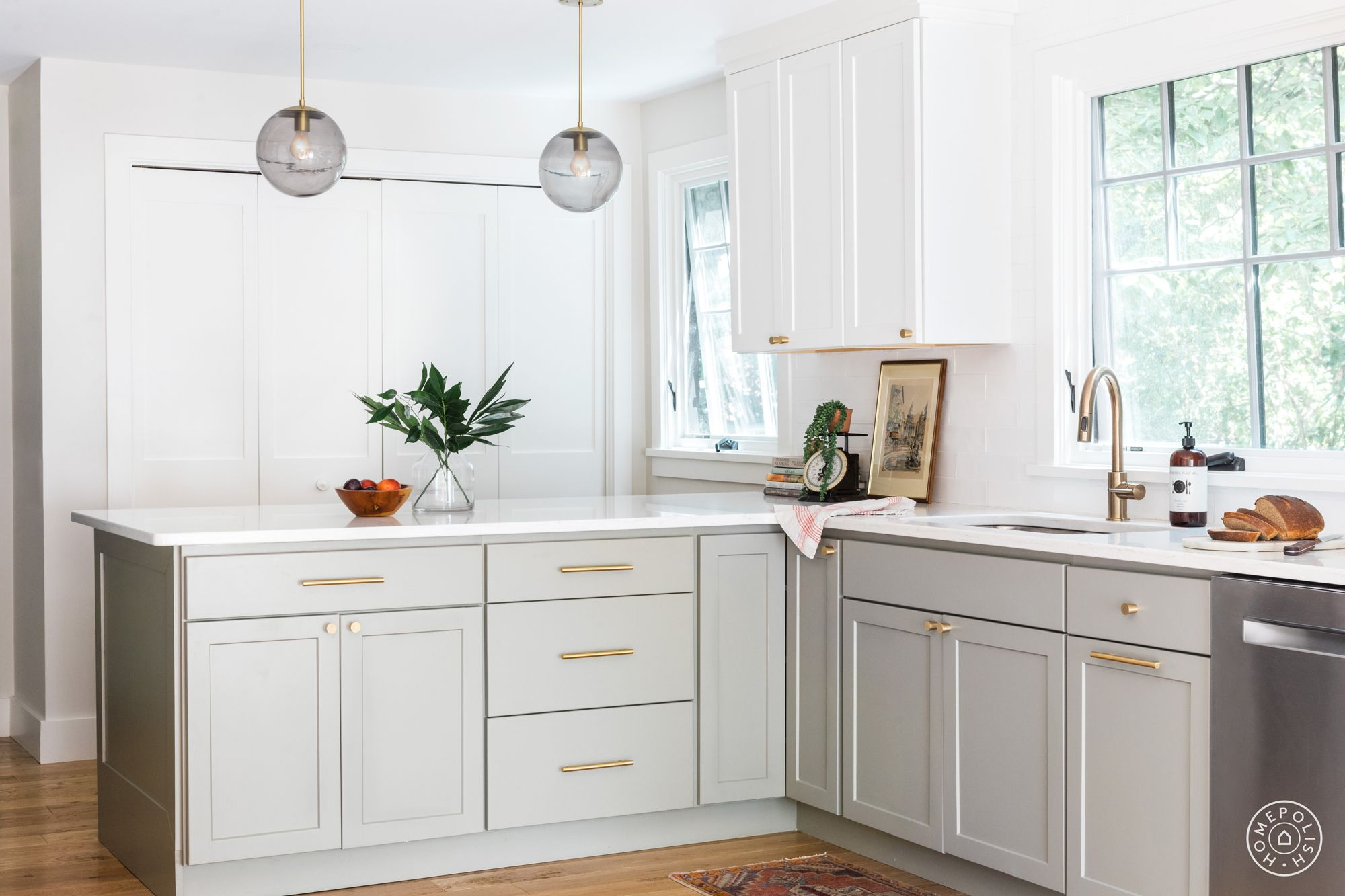 A Warm Welcome In Massachusetts Kitchen Layout Homepolish Kitchen Cabinet Colors