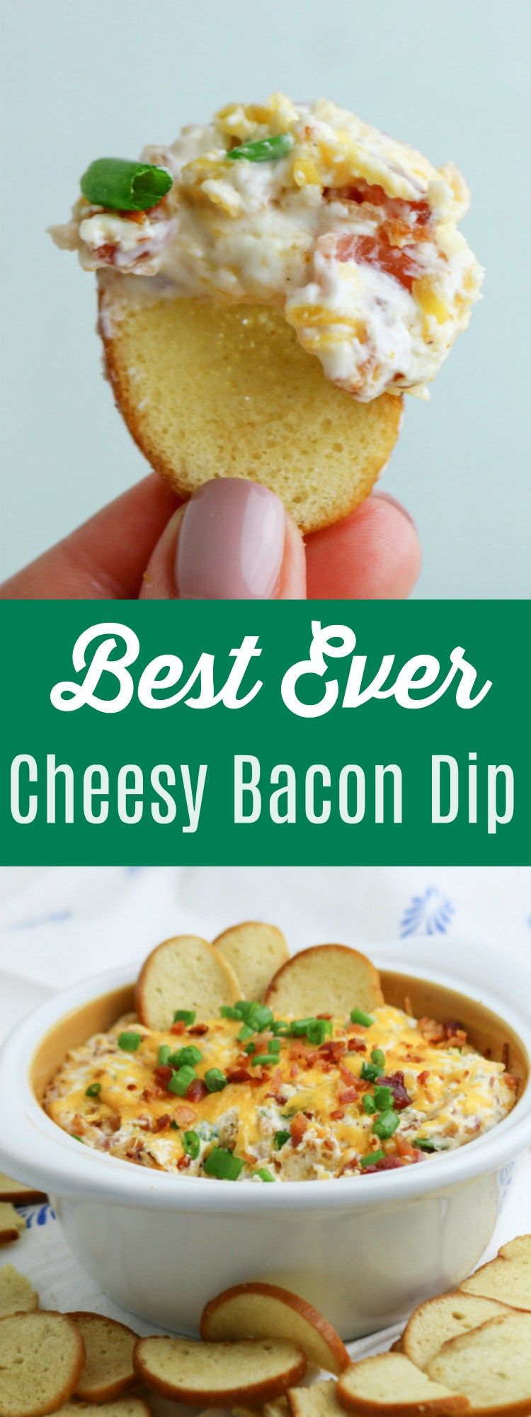 Cheesy Bacon Dip Appetizer - Blue Cheese Bungalow