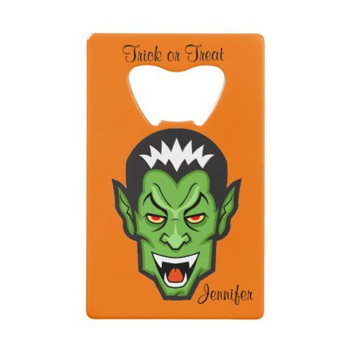 #Halloween Credit Card Bottle Opener NAME - #Halloween happy halloween #festival #party #holiday