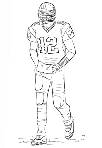Tom Brady Coloring Page Football Coloring Pages Sports Coloring Pages Coloring Pages To Print