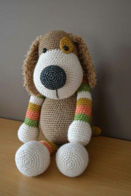 Hond Boris Stip Haak Hond Boris Pinterest Crochet Crochet