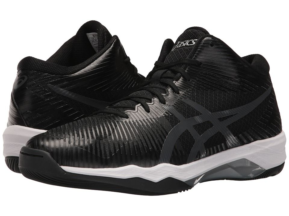 ASICS Volley Elite FF MT Men's Volleyball Shoes Black/Dark Grey ...