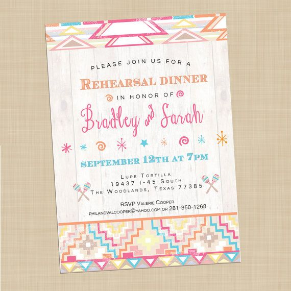 Fiesta Bridal Shower Invitations, Mexican Themed Wedding
