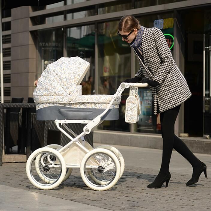 892c88def Isabell style Retro pram baby stroller winter snow walker 2 in 1 ...