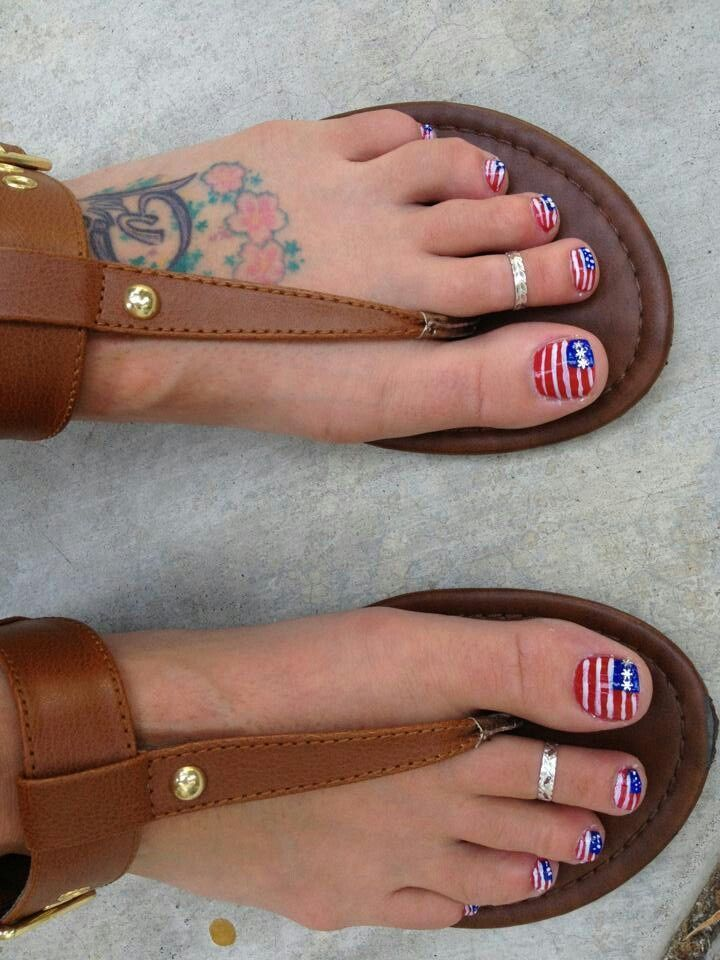 fourth of July toenails | Cure Toenail Fungus | Pinterest