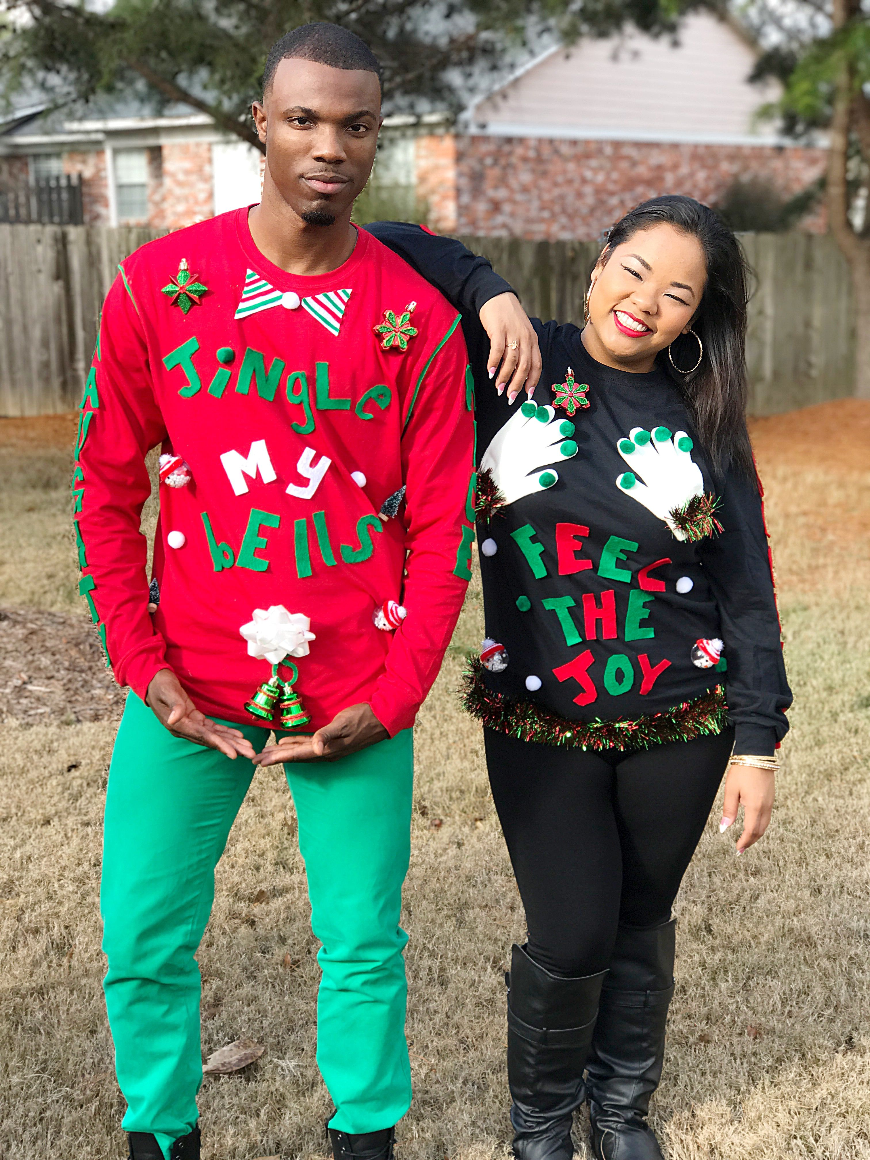 Pin On Ugly Christmas Sweater Couple Goals Jackson Ms
