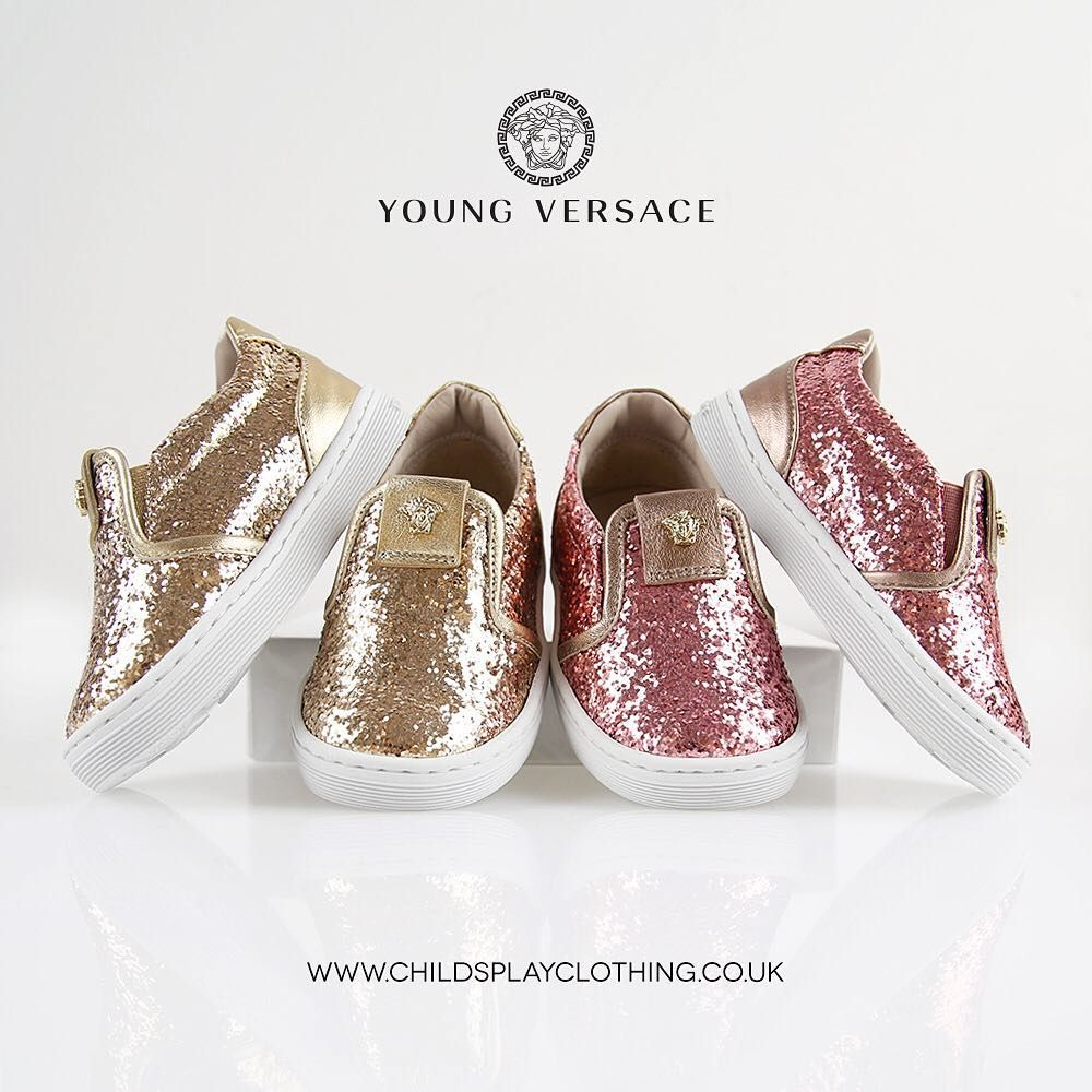 967a38c1e34e WOW!! Young Versace Glitter Shoes 💎😍 KidsFashion Versace