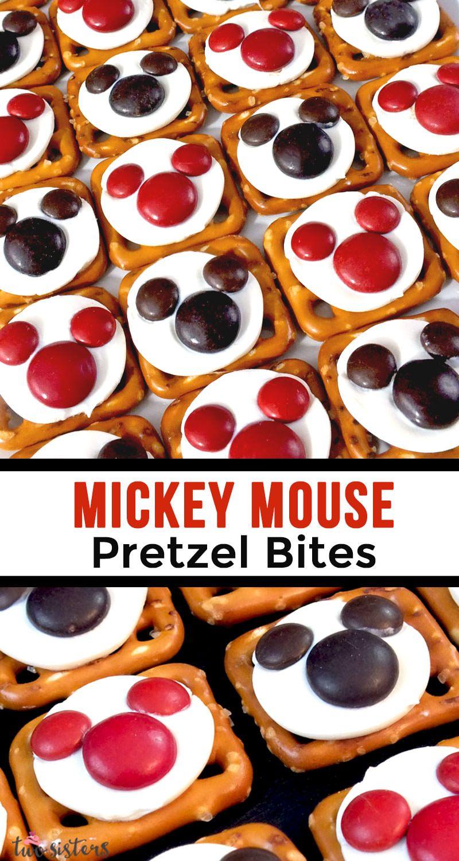 Mickey Mouse Pretzel Bites #mickeymousebirthdaypartyideas1st