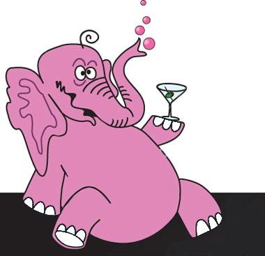 Pink Elephant MAM Clip It