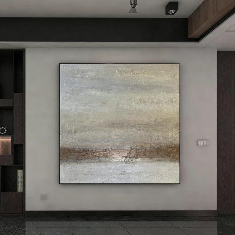Large Textured Original Wall Art Beige Painting On Canvas Etsy Original Wall Art Original Wall Decor Large Canvas Art Abstract