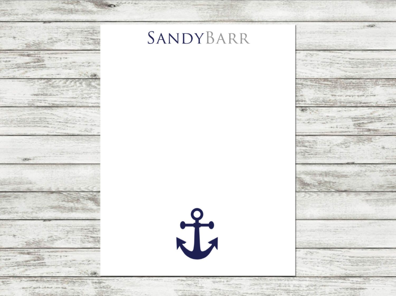 Personalized Notepad, Anchor Notepad, Nautical, Anchor, Nautical Notepad, Custom Notepad, Beach, Beach Notepad, Coastal, Coastal Notepad by SpyderWomanDesigns on Etsy https://www.etsy.com/listing/264626435/personalized-notepad-anchor-notepad