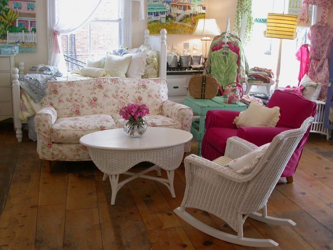 Country Cottage Furniture Shabby Chic Overstuffed Fl