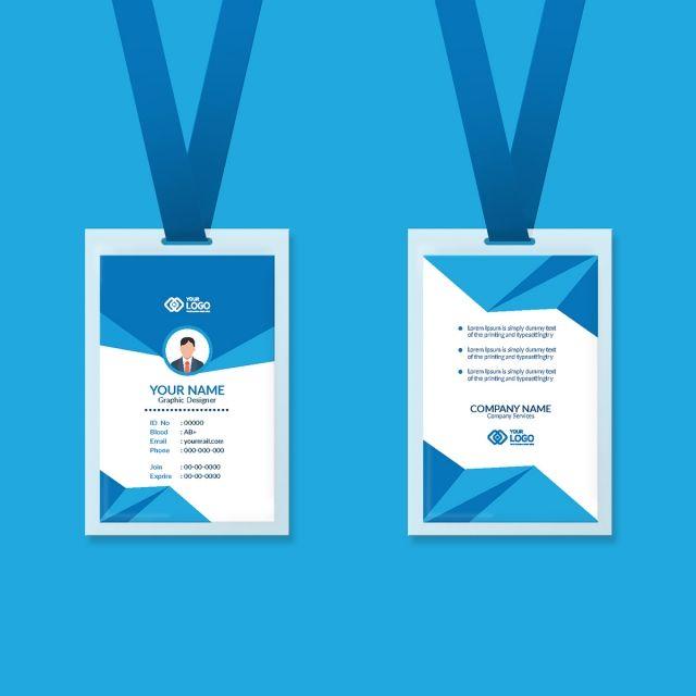 قالب تصميم بطاقة هوية الموظف Employee Id Card Card Design Business Card Psd