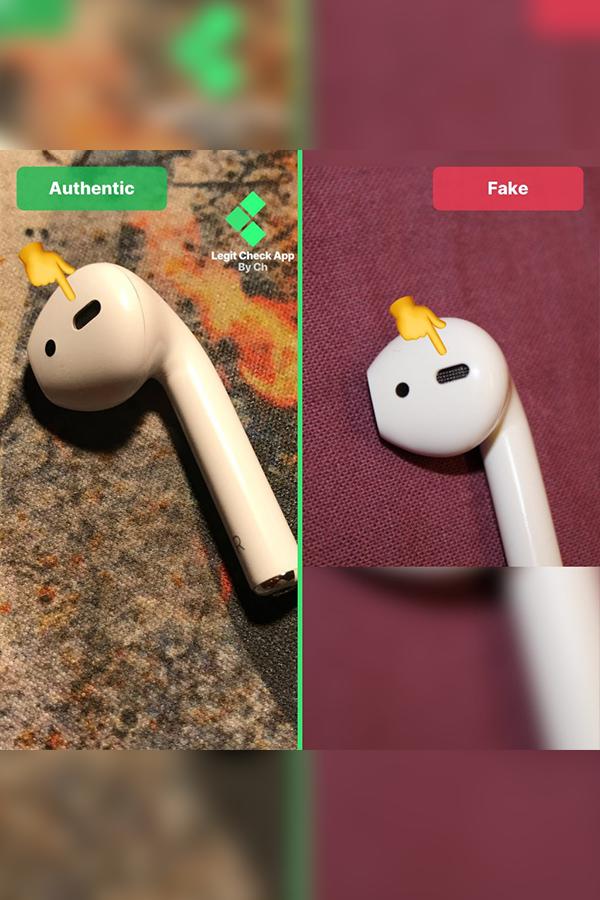 Airpods Fake Vs Real Guide Top Diffuser Lca Fake Diffuser Check In App