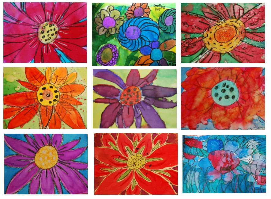 Our theme this week was FLOWERS... The studio was filled with them. So inspiring and lovely to look at!!! I'm current… | Spring art projects, Spring art, Flower art