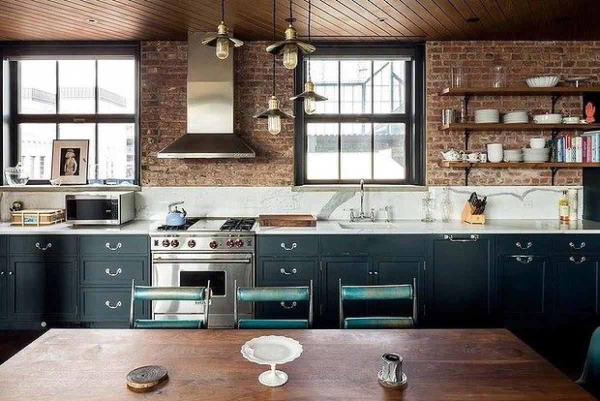 une cuisine style loft industriel le sublime loft de. Black Bedroom Furniture Sets. Home Design Ideas