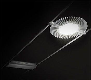 Inspirational LED Leuchte Tensoled f r das Hochvolt Seilsystem von Cini u Nils