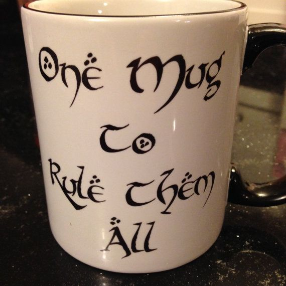 Of The Them All Rings Hobbit Mug Coffee To Rule Lord One dBWCoeQErx
