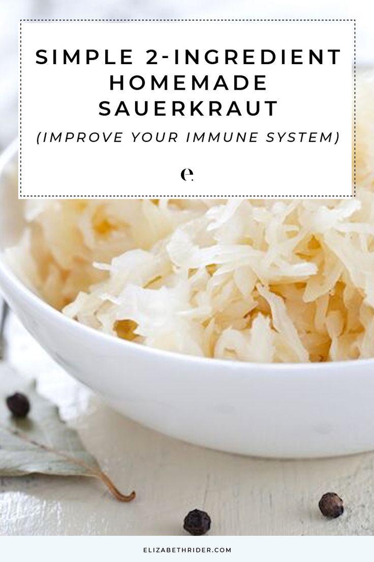Simple 2 Ingredient Homemade Sauerkraut