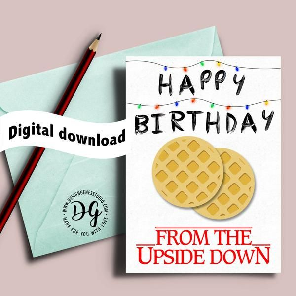 Local Purchase Order Template Printable Stranger Things Birthday Card The Upside Down  Need 2 .