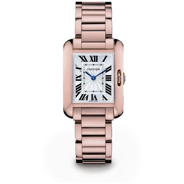 36aa55bed11 Cartier Tank Anglaise Small 18K Pink Gold Bracelet Watch (74.325 BRL) ❤  liked on