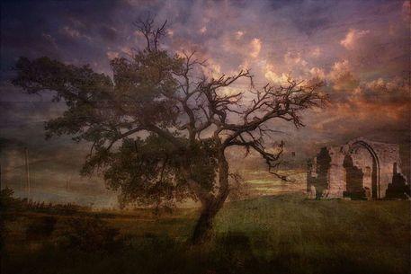'Der alte Baum. Frei nach Caspar David Friedrich' von Marie Luise Strohmenger bei artflakes.com als Poster oder Kunstdruck $19.41