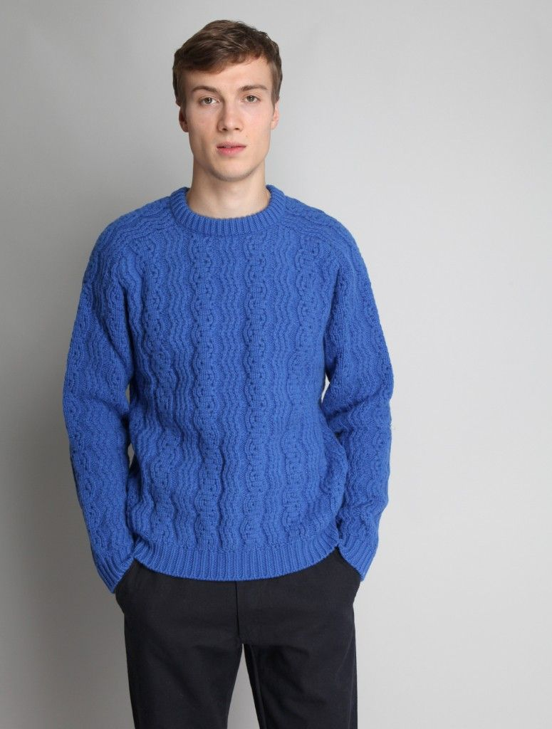 Peter Jensen Mens Blue Cable Knit Jumper | Knitting (and some ...