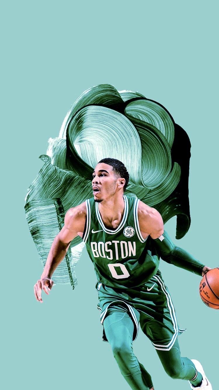Boston Celtics Wallpaper Iphone Jayson Tatum Boston Celtics Wallpaper Boston Celtics Nba Wallpapers