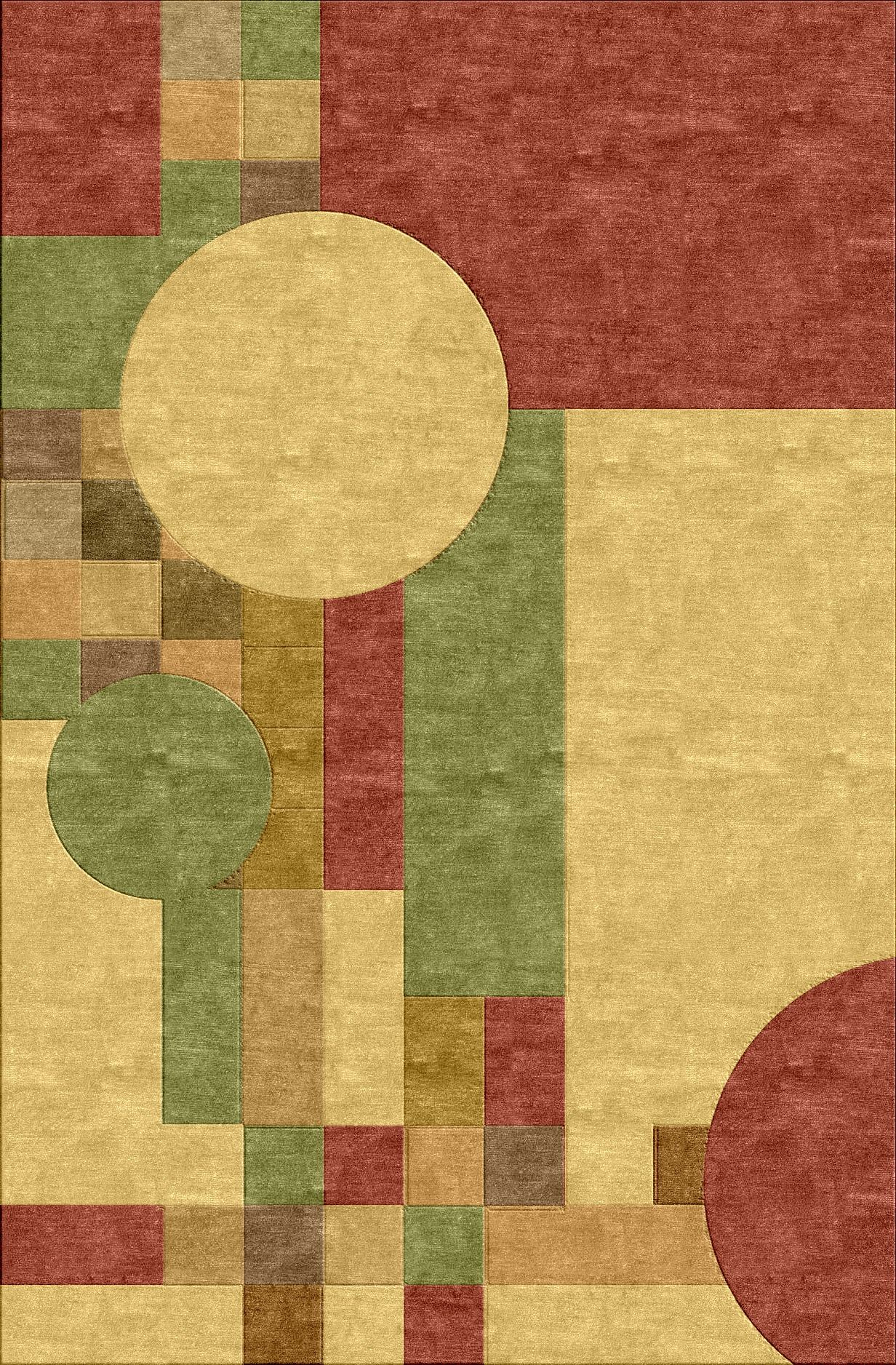 Frank Lloyd Wright Mission Style Inspired Rug Rugs