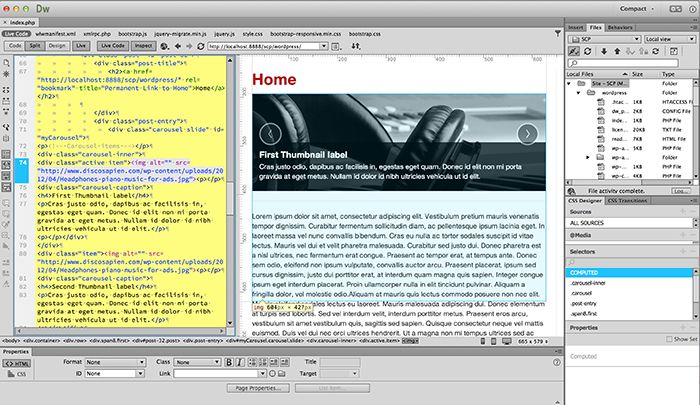Building Wordpress Sites With Adobe Dreamweaver Cc Adobe Dreamweaver Dreamweaver Dreamweaver Cc