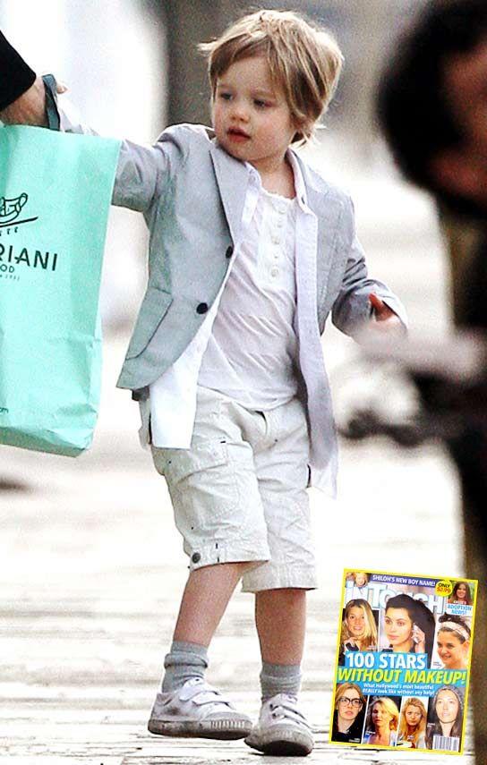 A jolie like dress does boy shiloh pitt Angelina Jolie