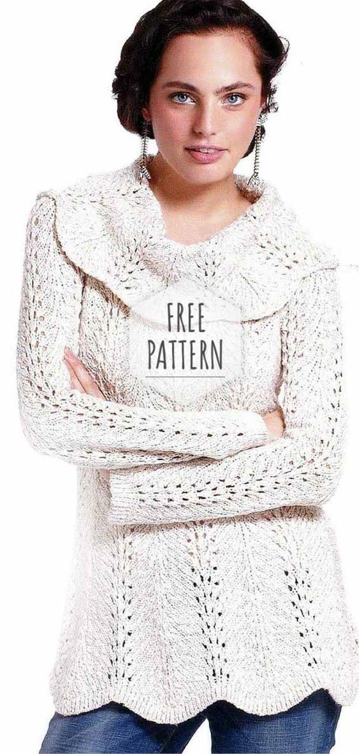 Crochet White Tunic Free Pattern | sacos para mi | Pinterest ...