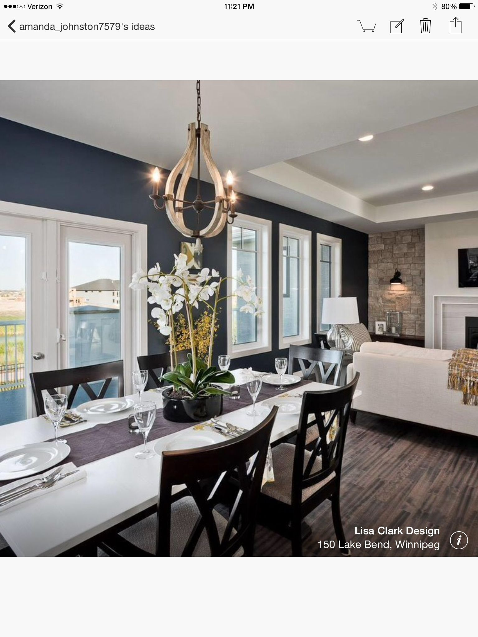 Navy Hale Benjamin Moore Accent Walls In Living Room Blue Accent Walls Transitional Dining Room