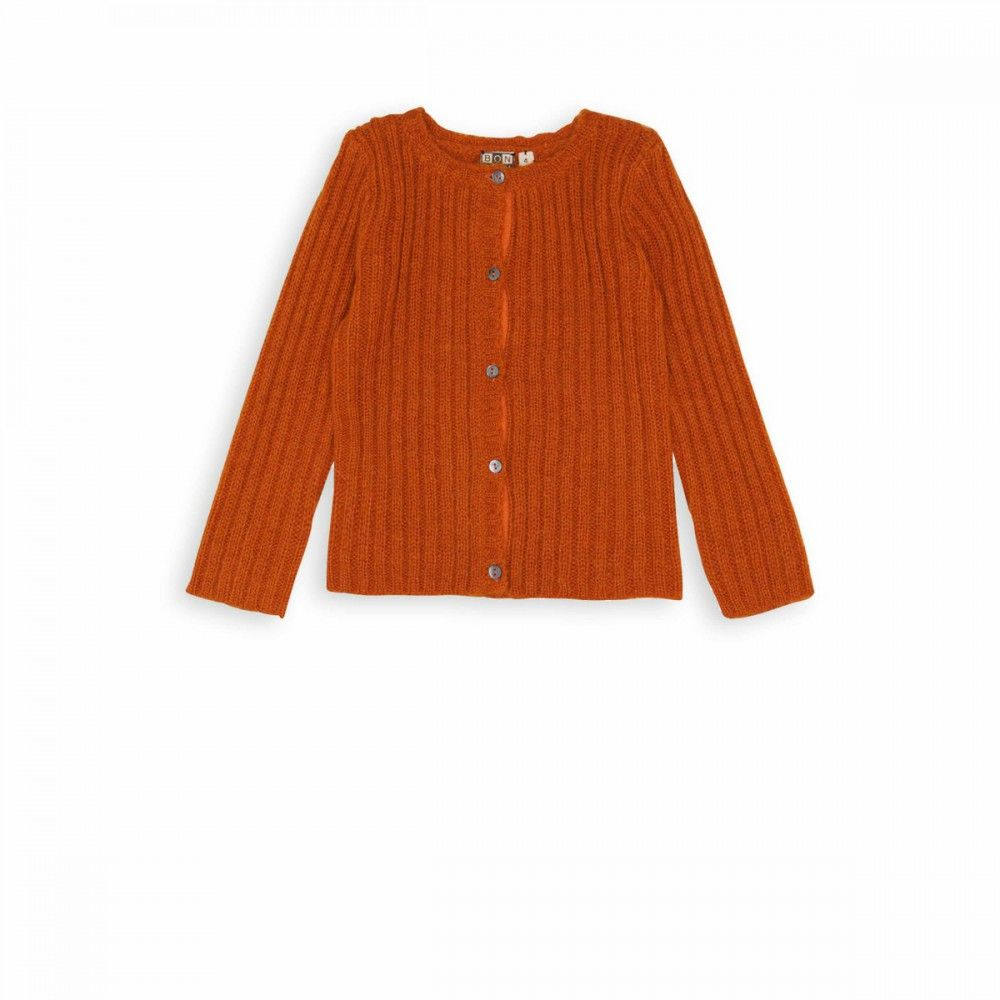 Mohair cardigan orange bowie - maille Girls - BONTON | AW15 THE ...
