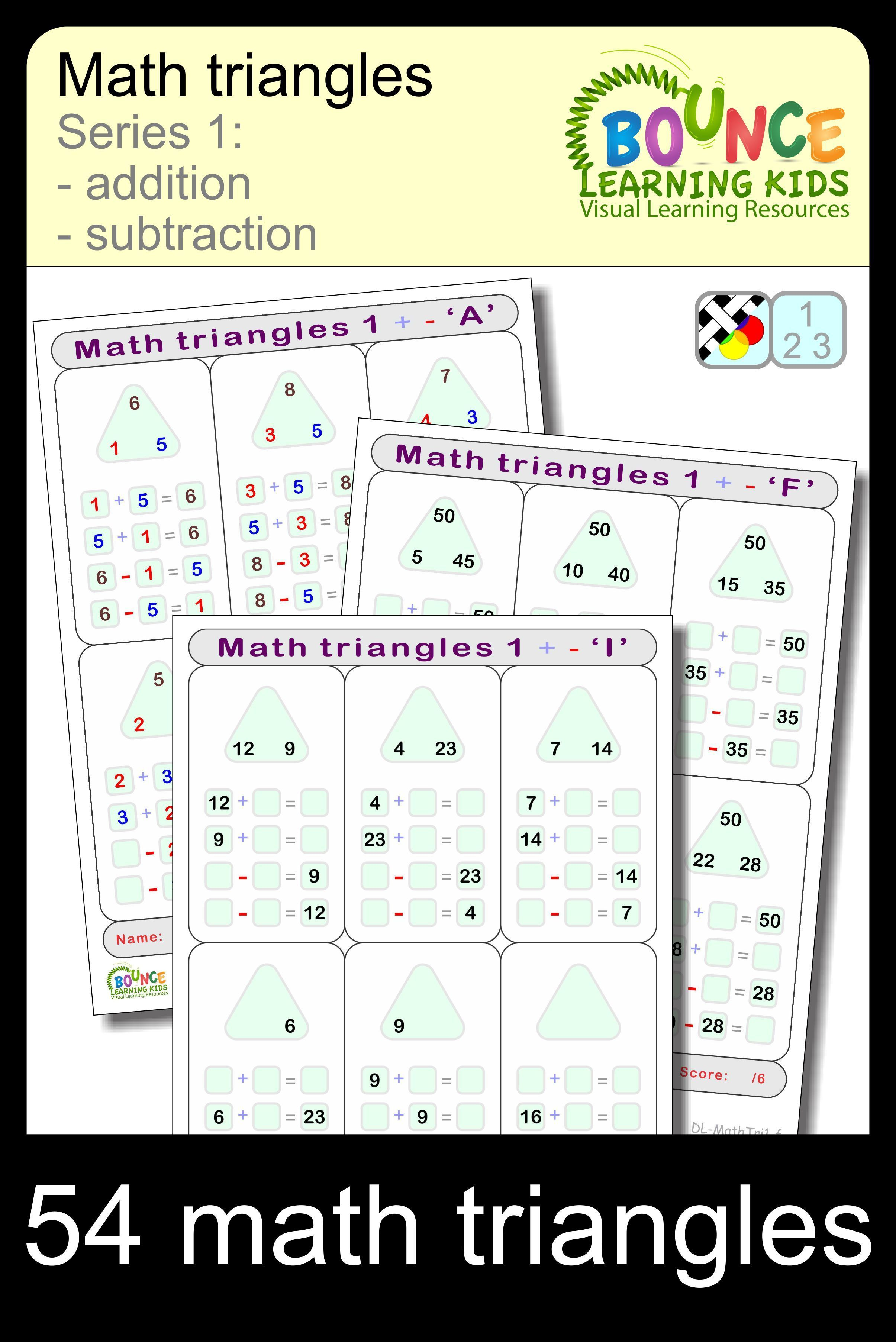 Math Triangles 1 9 Distance Learning Worksheets For