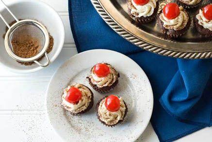 For Tori: Gluten Free Flourless Mini Chocolate Cherry Cupcakes Recipe1
