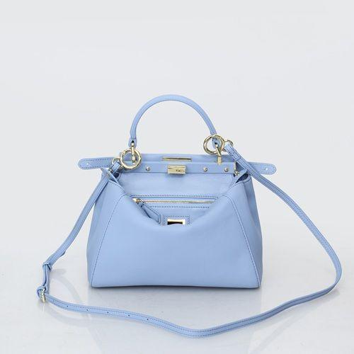 Fendi Mini Peekaboo  - Light Blue