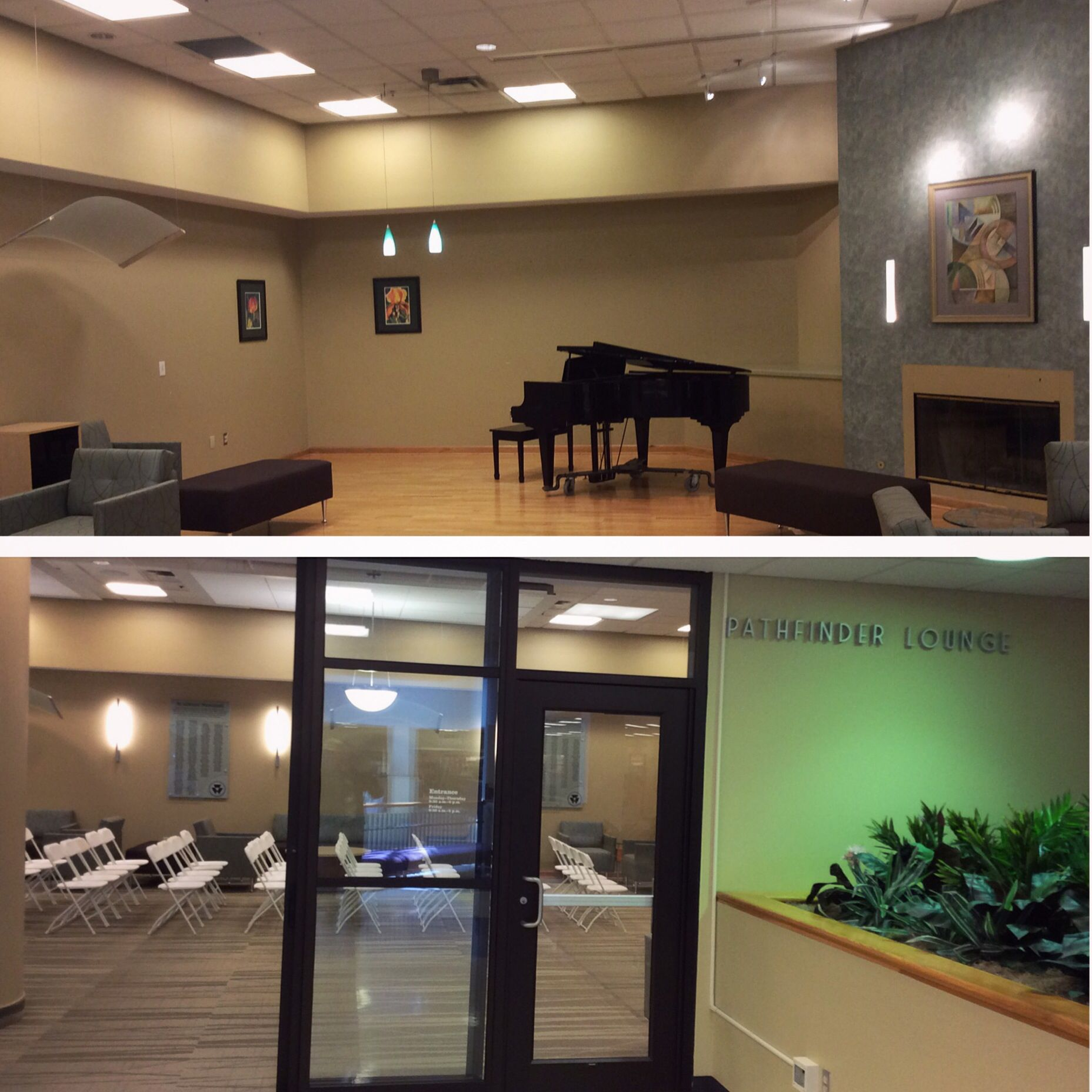 Pathfinder lounge is located on the 1st floor of the