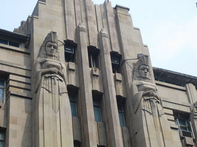 Art Deco Exterior Of Assurance Company Building In Mumbai India