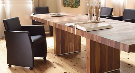 pure wood dining table by rodam extendable design in gorgeous natural wood - Extendable Wooden Dining Table