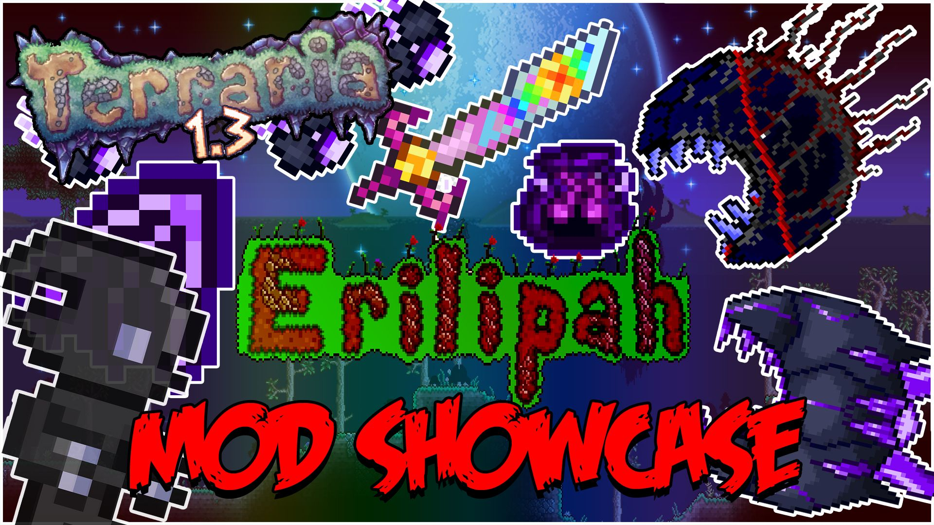 Terraria 1 3 - Erilipah Mod Showcase!   Youtube Channel
