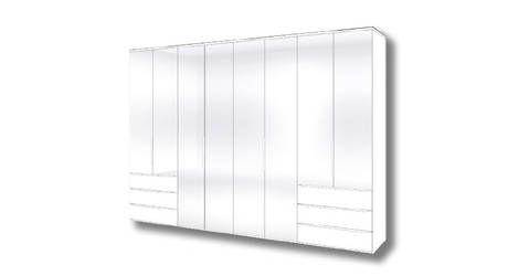 Horizont 10500 draaideur kast - 8 deuren, laden, wit,     verkrijgbaar bij Slaapkenner Theo Bot Dorpsstraat 162 Zwaag / Hoorn ( N-H) www.theobot.nl  Nolte Möbel