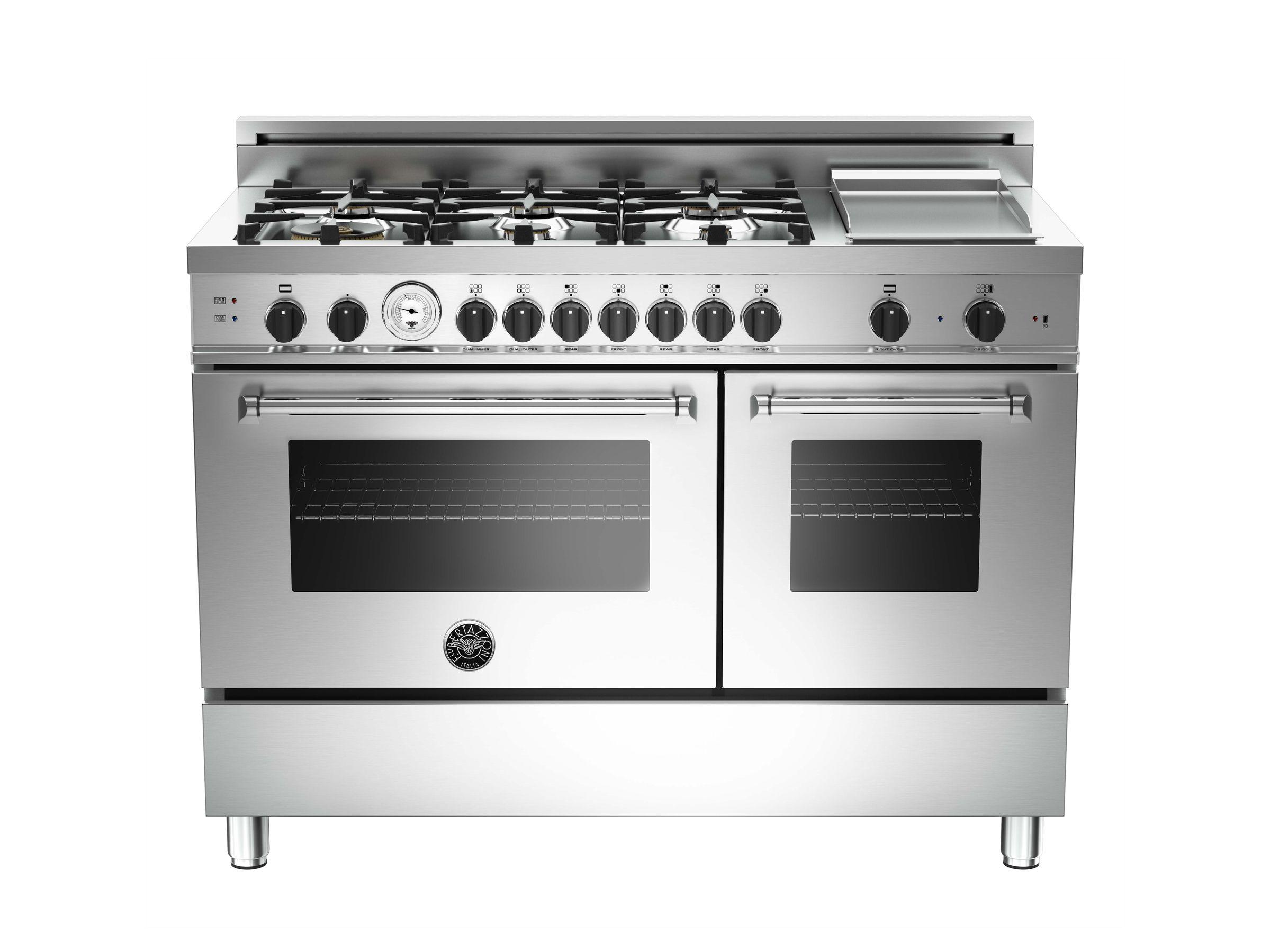 48 6-Burner + Griddle, Gas Double Oven   Bertazzoni   Kitchen ...