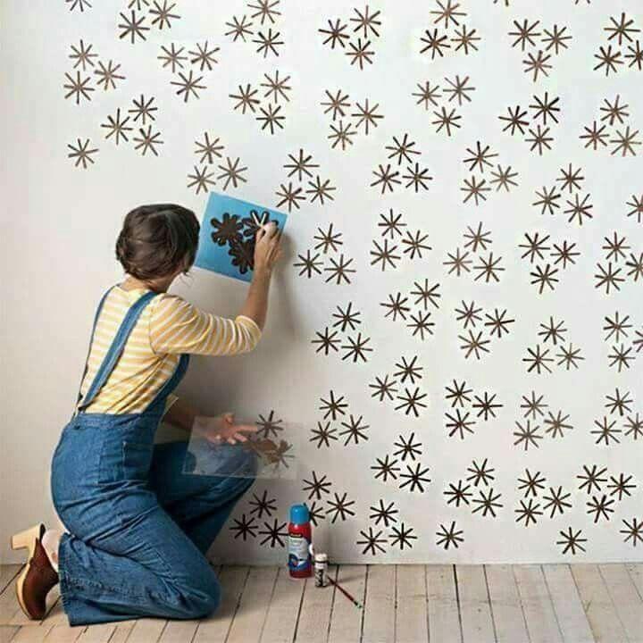 Pin di ezia pompeo su idee decoracion paredes habitacion como pintar una pared e pinturas de - Stampi per decorare pareti ...