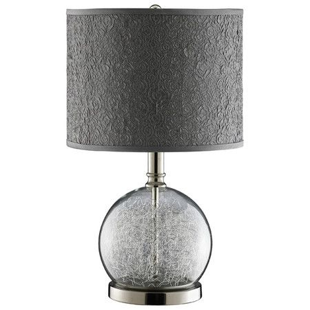 Found it at wayfair studio clear glass accent lamp in chrome